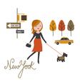 walk around NYC vector image