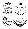 Set of lettering labels vector image