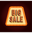 Big Sale Banner With Light Bulbs vector image vector image