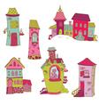 Scrapbook Design Elements - Little Houses Doodles vector image vector image