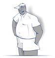 cartoon boy smile vector image