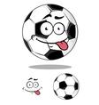 Cartoon soccer or football ball vector image