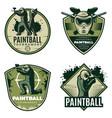 colorful vintage active leisure emblems set vector image