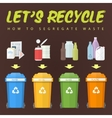 lets recycle waste concept vector image