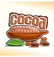 logo for cocoa vector image