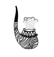 smoking pipe hand drawn vector image