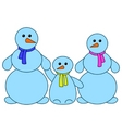 snowballs family vector image