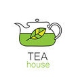 tea house template vector image
