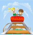 thrilling roller coaster ride vector image