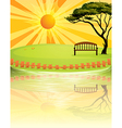 A sunset at the park vector image vector image