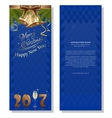New Year 2017 Blue christmassy background vector image