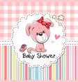 baby shower greeting card with puppy vector image