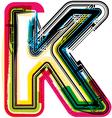 Colorful Grunge font LETTER K vector image