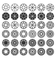 set of cutting samples diamonds gemstones design vector image