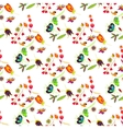 Seamless multicolored retro flower pattern vector image