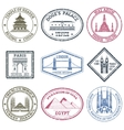 Monuments Stamps Set vector image