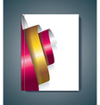 Brochure cover design spiral elements template vector image