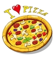 Hand drawing pizza vector image