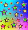 Multi-colored stars vector image
