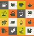 multicolor tea icons set vector image