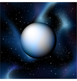 planet on deep sky vector image