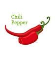 red chili pepper hot spicy cartoon style vector image