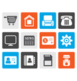Flat Business office and website icons vector image