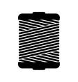 monochrome silhouette wiht Thread Spool vector image