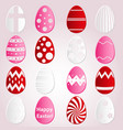 various easter eggs design from color paper vector image