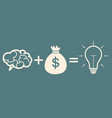 motivation concept brain plus money  idea vector image