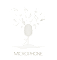 Musical instruments graphic template Microphone vector image