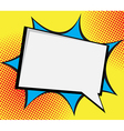 speech bubble pop artcomic book background vector image