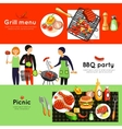 Barbecue Party 3 Horizontal Banners Set vector image