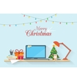 Christmas workplace vector image