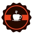 coffee shop label icon vector image