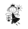 cute little fairy sketch for your design vector image