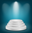 Empty white podium with light vector image