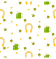 irish st patrick celebration party seamless vector image