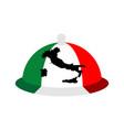 italy dish tray sign isolated food italian vector image