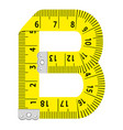 letter b ruler icon cartoon style vector image