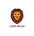 lion head logo design vector image