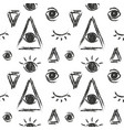 Seamless pattern with eye of providence vector image