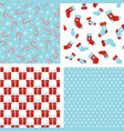 seamless winter patterns christmas backgrounds vector image