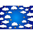 Sky background with a blank space vector image