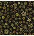 Stars Pattern from golden starry elements vector image