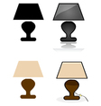 Table lamp vector image vector image