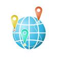 The globe icon or symbol vector image