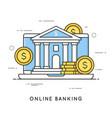 Online banking internet payments money vector image