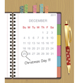 christmas notebook vector image vector image