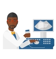 Male ultrasound specialist vector image